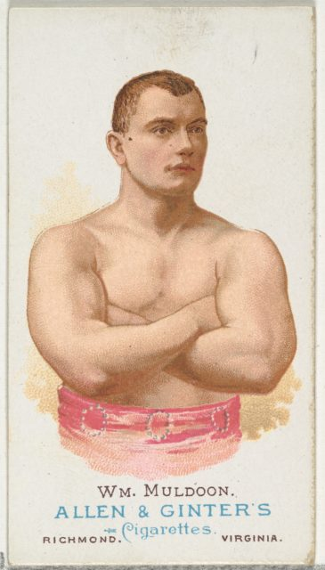 William Muldoon, Wrestler, from World's Champions, Series 1 (N28) for Allen & Ginter Cigarettes