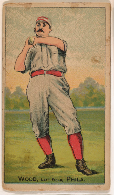 """Wood, Left Field, Philadelphia, from the """"Gold Coin"""" Tobacco Issue"""