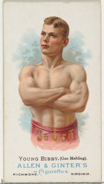 Young Bibby (George Mehling), Wrestler, from World's Champions, Series 1 (N28) for Allen & Ginter Cigarettes