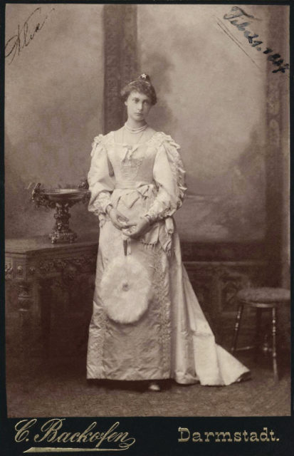 Princess Alix of Hesse. 1887.