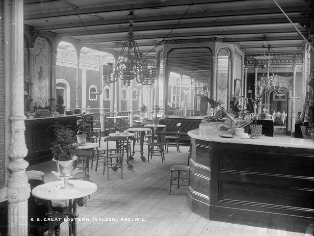 Saloon on the S.S. Great Eastern