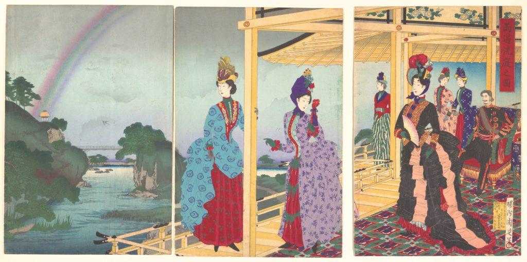 A Garden Refreshed by the Passing Rain  (Ukasentei no zu)