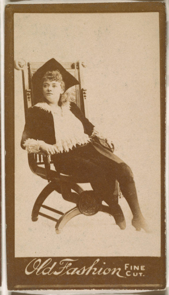 Actress seated in chair, from the Actresses series (N664) promoting ...