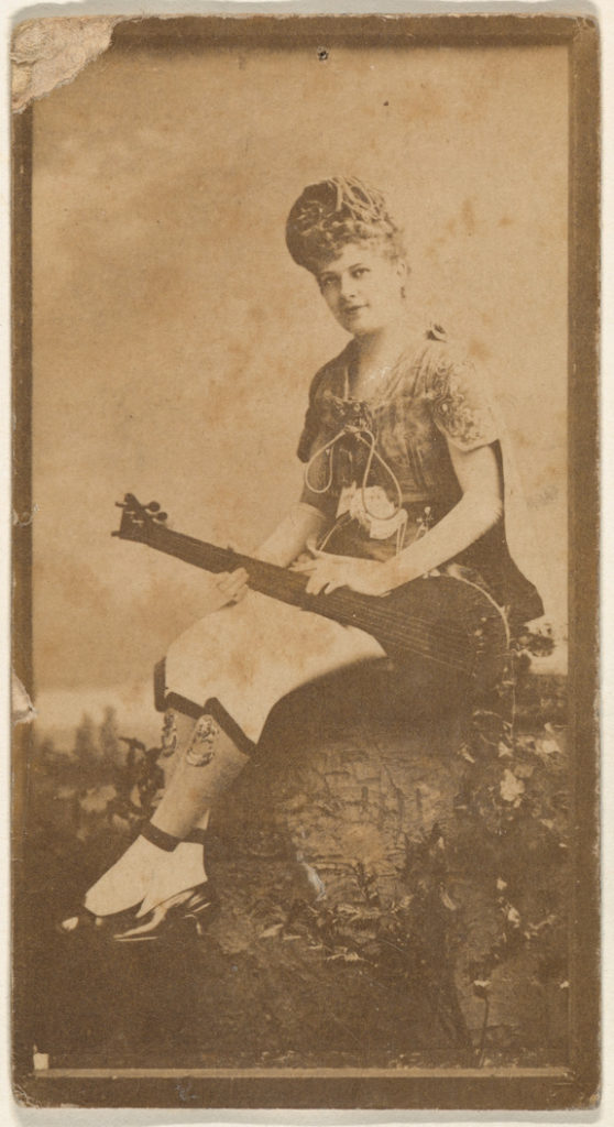 Actress with mandolin, from the Actresses series (N668)