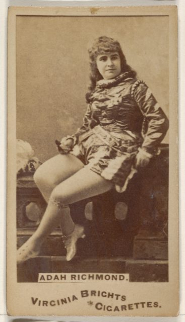 Adah Richmond, from the Actors and Actresses series (N45, Type 1) for Virginia Brights Cigarettes