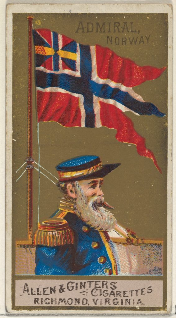 Admiral, Norway, from the Naval Flags series (N17) for Allen & Ginter Cigarettes Brands