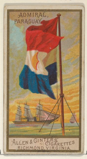 Admiral, Paraguay, from the Naval Flags series (N17) for Allen & Ginter Cigarettes Brands