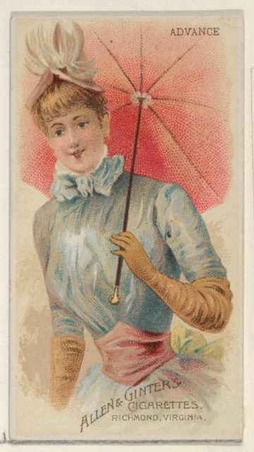 Advance, from the Parasol Drills series (N18) for Allen & Ginter Cigarettes Brands