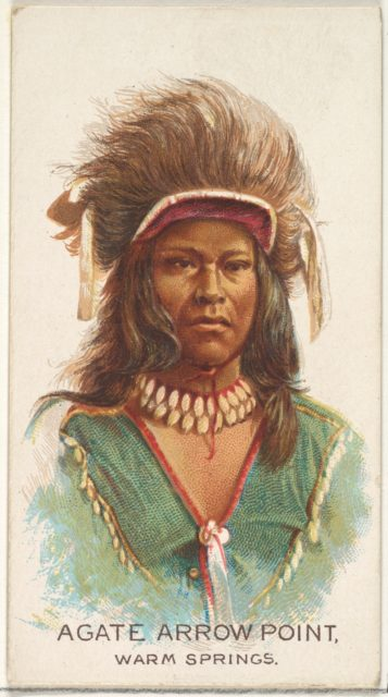 Agate Arrow Point, Warm Springs, from the American Indian Chiefs series (N2) for Allen & Ginter Cigarettes Brands