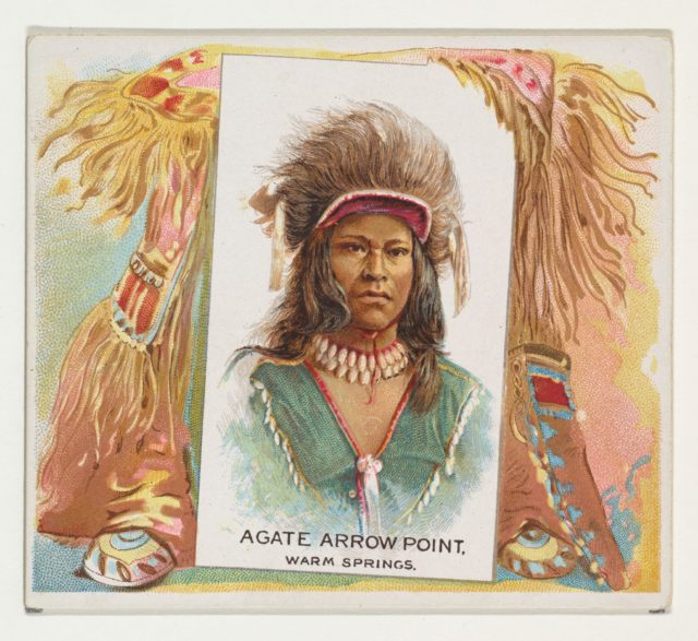 Agate Arrow Point, Warm Springs, from the American Indian Chiefs series (N36) for Allen & Ginter Cigarettes