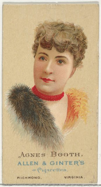 Agnes Booth, from World's Beauties, Series 2 (N27) for Allen & Ginter Cigarettes