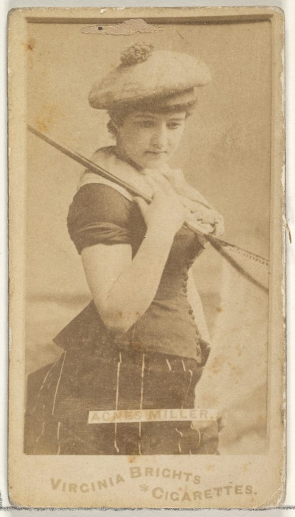 Agnes Miller, from the Actors and Actresses series (N45, Type 1) for Virginia Brights Cigarettes