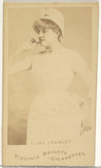 Alma Stanley, from the Actors and Actresses series (N45, Type 1) for Virginia Brights Cigarettes