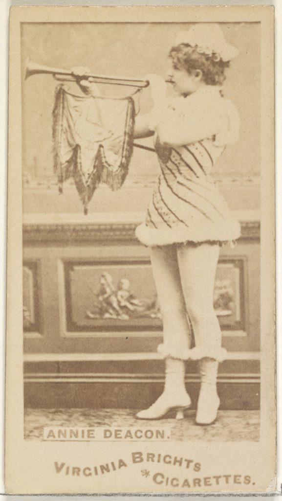 Annie Deacon, from the Actors and Actresses series (N45, Type 1) for Virginia Brights Cigarettes