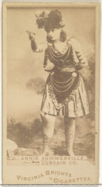 Annie Summerville, Corsair Co., from the Actors and Actresses series (N45, Type 1) for Virginia Brights Cigarettes