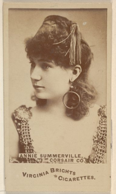 Annie Summerville, Corsair Co., from the Actors and Actresses series (N45, Type 6) for Virginia Brights Cigarettes