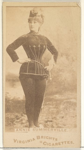 Annie Summerville, from the Actors and Actresses series (N45, Type 1) for Virginia Brights Cigarettes