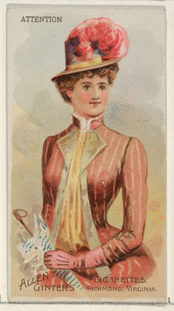 Attention, from the Parasol Drills series (N18) for Allen & Ginter Cigarettes Brands