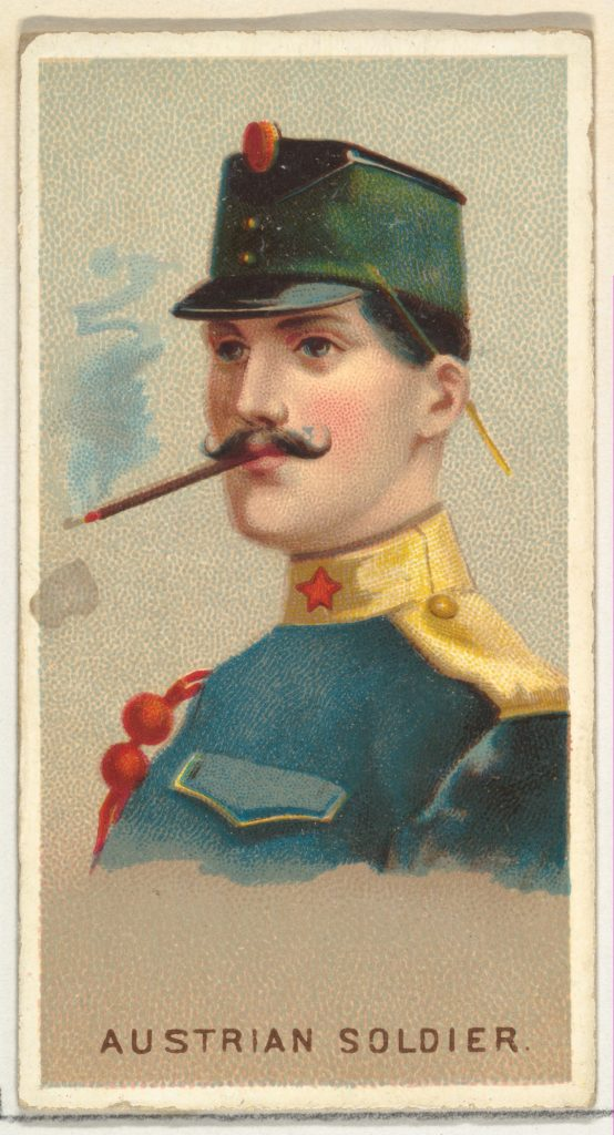 Austrian Soldier, from World's Smokers series (N33) for Allen & Ginter Cigarettes