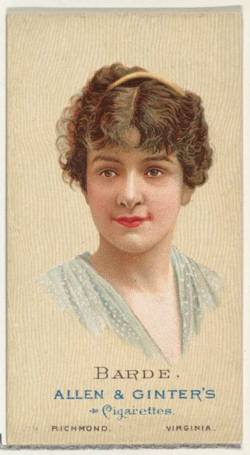 Barde, from World's Beauties, Series 2 (N27) for Allen & Ginter Cigarettes