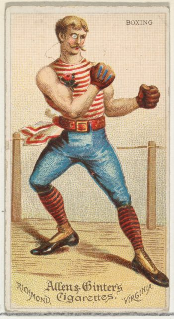 Boxing, from World's Dudes series (N31) for Allen & Ginter Cigarettes