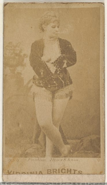 Card 454, Pauline Markham, from the Actors and Actresses series (N45, Type 1) for Virginia Brights Cigarettes