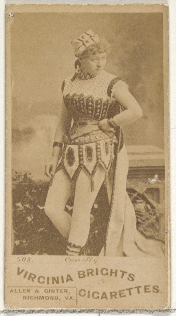 Card 508, Conolly, from the Actors and Actresses series (N45, Type 1) for Virginia Brights Cigarettes