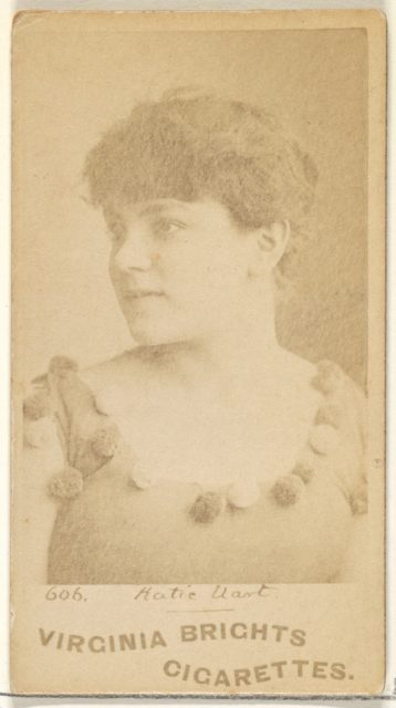Card 606, Katie Uart, Corsair Co., from the Actors and Actresses series (N45, Type 1) for Virginia Brights Cigarettes