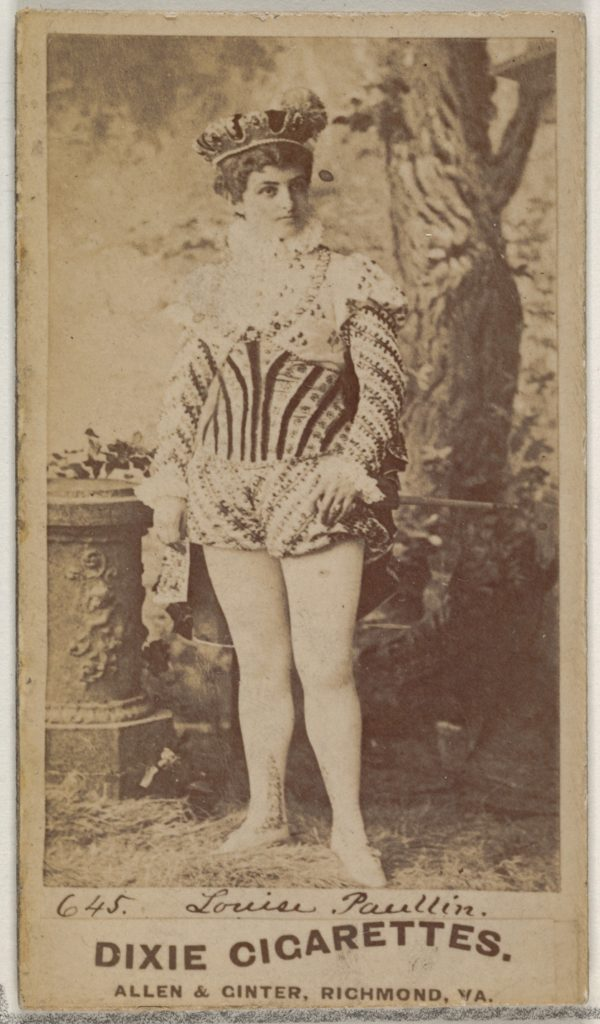 Card 645, Louise Paullin, from the Actors and Actresses series (N45, Type 7) for Dixie Cigarettes