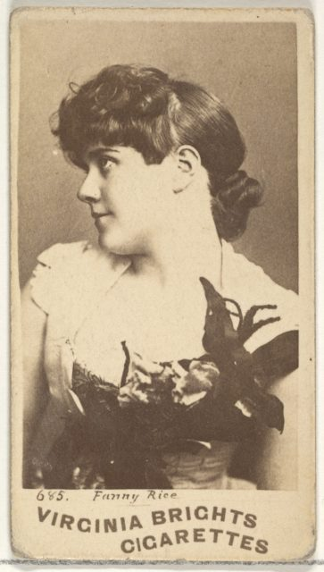 Card 685, Fanny Rice, from the Actors and Actresses series (N45, Type 1) for Virginia Brights Cigarettes
