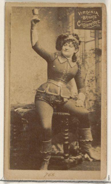 Card 766, from the Actors and Actresses series (N45, Type 2) for Virginia Brights Cigarettes