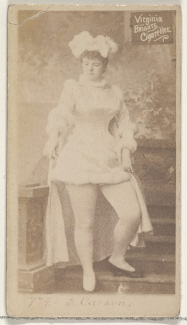 Card 778, Emma Carson, from the Actors and Actresses series (N45, Type 2) for Virginia Brights Cigarettes