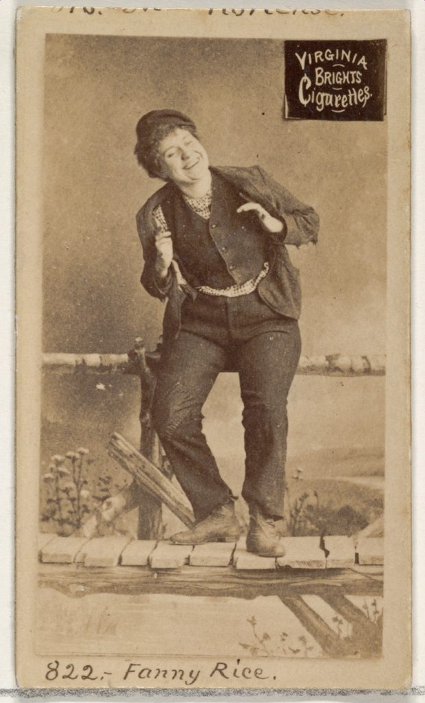 Card 822, Fanny Rice, from the Actors and Actresses series (N45, Type 2) for Virginia Brights Cigarettes