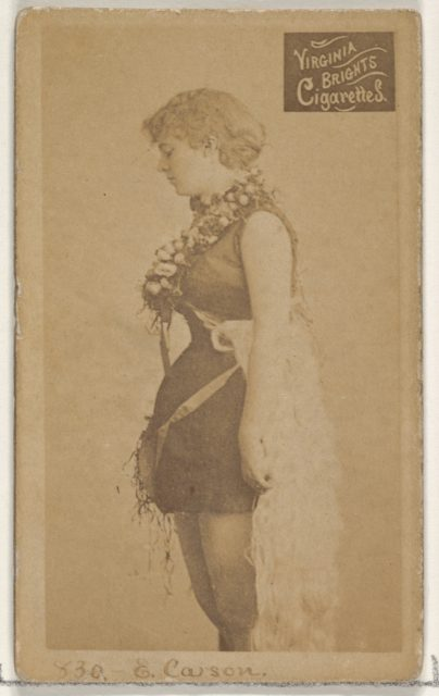 Card 830, Emma Carson, from the Actors and Actresses series (N45, Type 2) for Virginia Brights Cigarettes