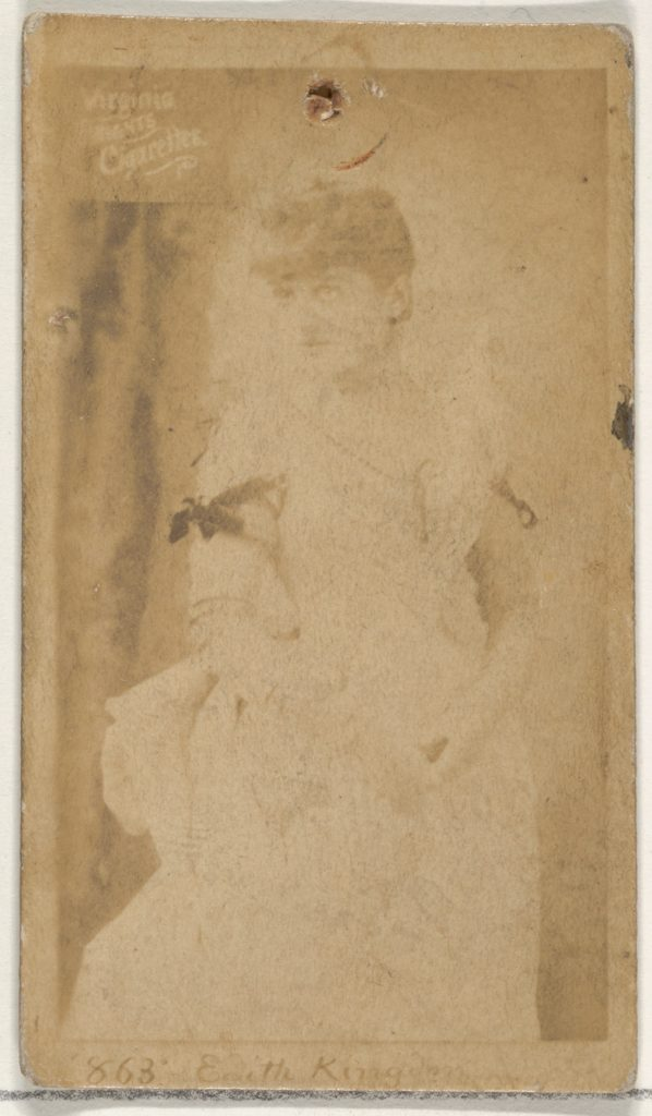 Card 868, Edith Kingdon, from the Actors and Actresses series (N45, Type 2) for Virginia Brights Cigarettes