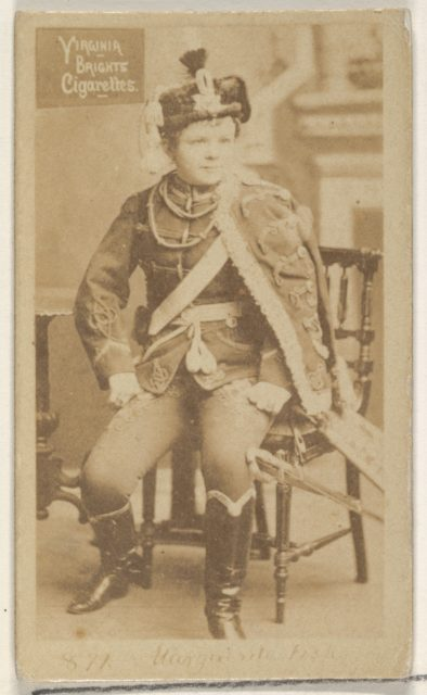 Card 871, from the Actors and Actresses series (N45, Type 2) for Virginia Brights Cigarettes