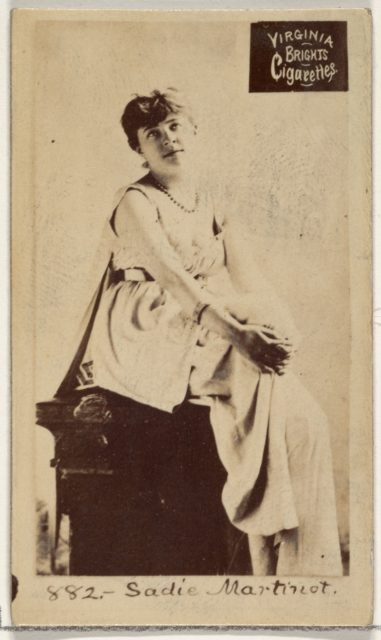 Card 882, Sadie Martinot, from the Actors and Actresses series (N45, Type 2) for Virginia Brights Cigarettes
