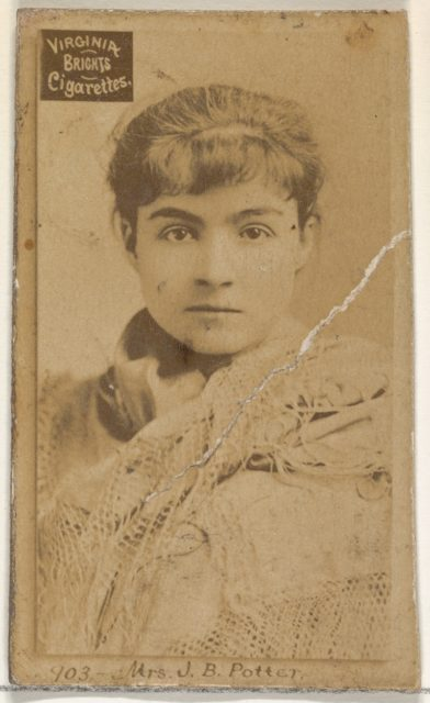 Card 903, Mrs. J.B. Potter, from the Actors and Actresses series (N45, Type 2) for Virginia Brights Cigarettes