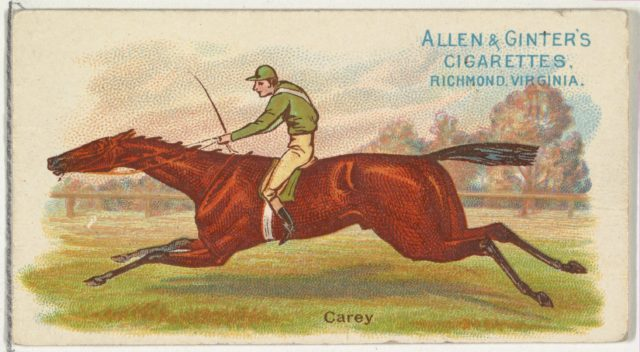 Carey, from The World's Racers series (N32) for Allen & Ginter Cigarettes
