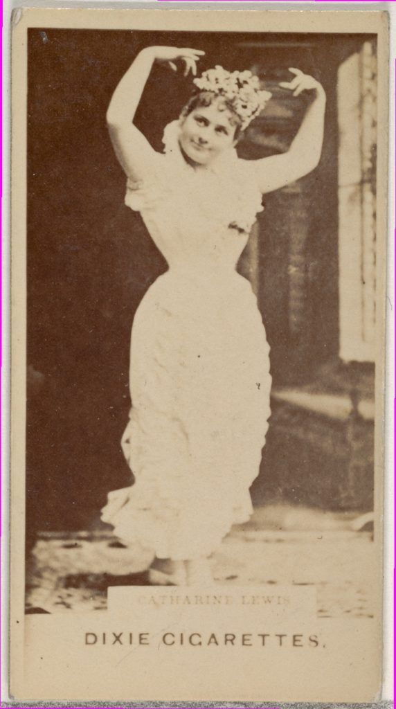 Catharine Lewis, from the Actors and Actresses series (N45, Type 7) for Dixie Cigarettes