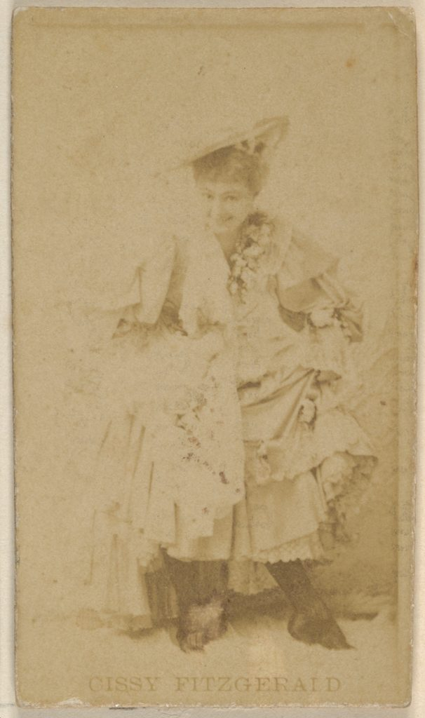 Cissy Fitzgerald, from the Actors and Actresses series (N45, Type 8) for Virginia Brights Cigarettes