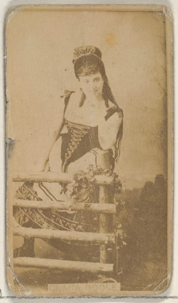 Clara Poole, from the Actors and Actresses series (N45, Type 8) for Virginia Brights Cigarettes