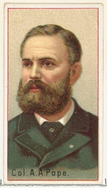 Colonel A. A. Pope, printer's sample for the World's Inventors souvenir album (A25) for Allen & Ginter Cigarettes