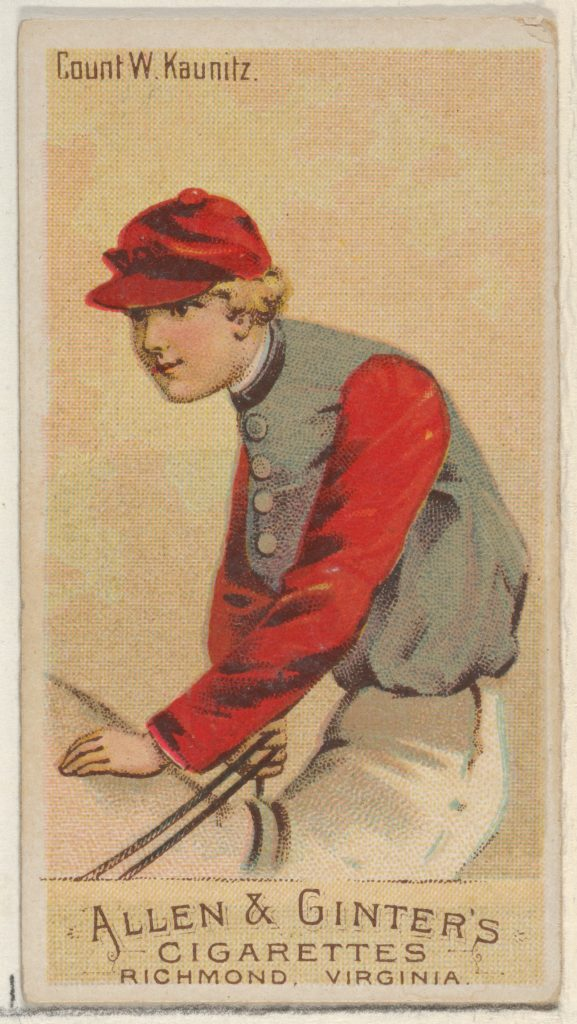 Count W. Kaunitz, from the Racing Colors of the World series (N22a) for Allen & Ginter Cigarettes