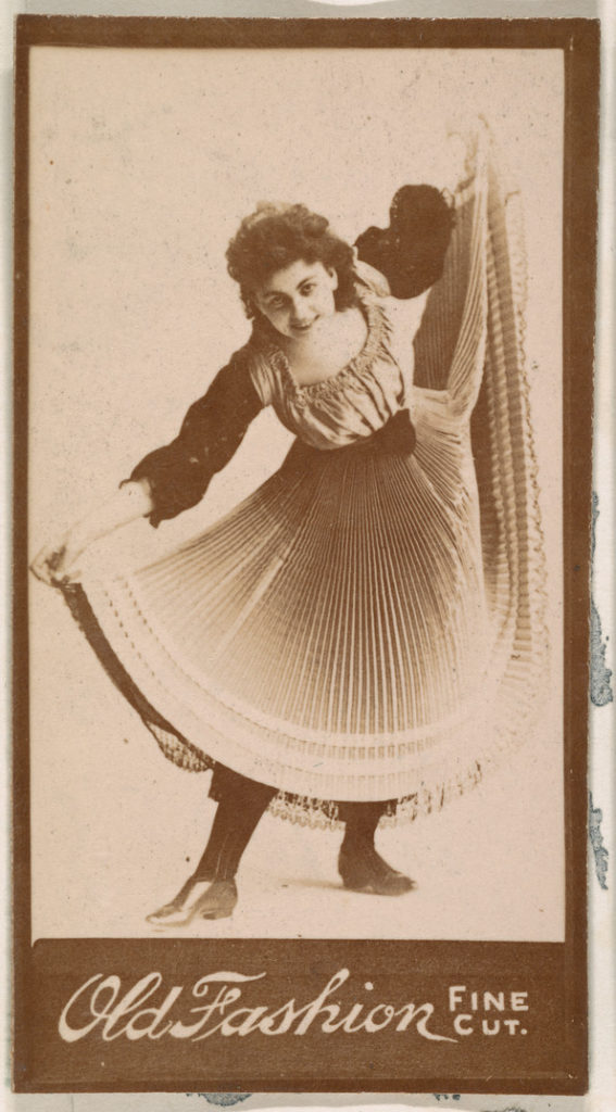 Dancer, from the Actresses series (N664) promoting Old Fashion Fine Cut Tobacco