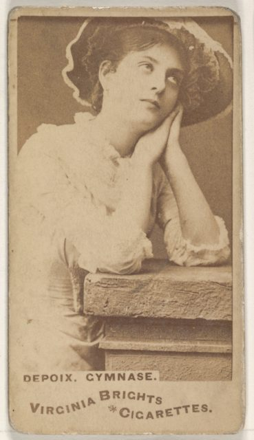 Depoix, Gymnase, from the Actors and Actresses series (N45, Type 1) for Virginia Brights Cigarettes