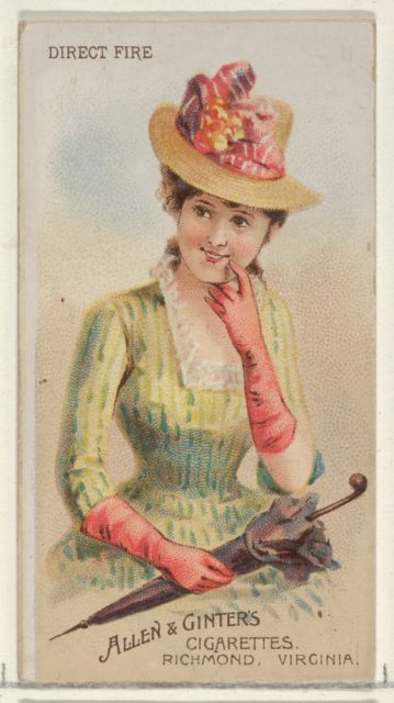 Direct Fire, from the Parasol Drills series (N18) for Allen & Ginter Cigarettes Brands