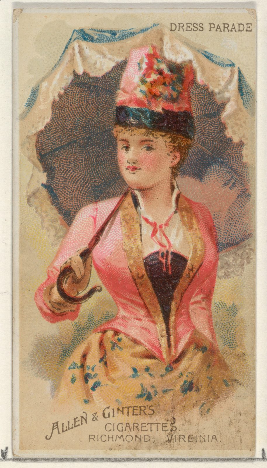 Dress Parade, from the Parasol Drills series (N18) for Allen & Ginter Cigarettes Brands