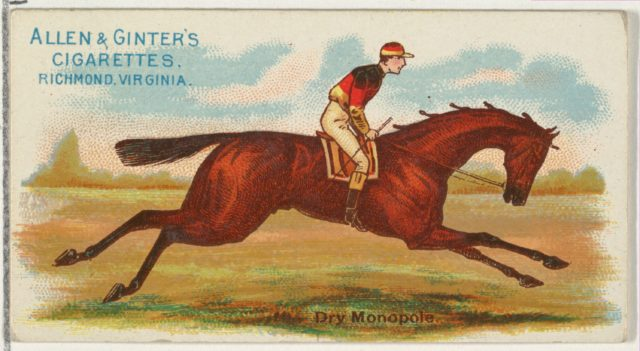 Dry Monopole, from The World's Racers series (N32) for Allen & Ginter Cigarettes