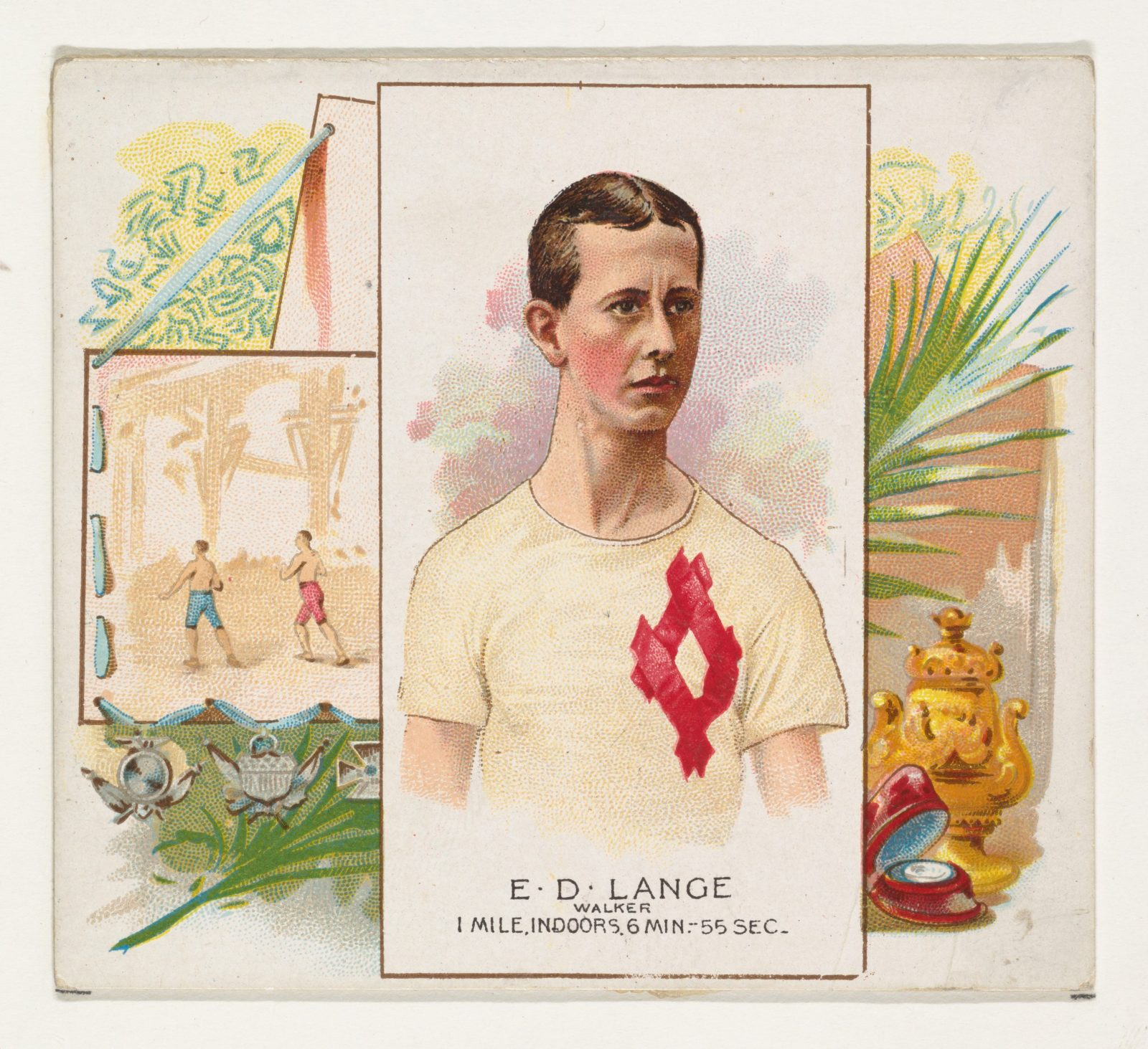 E.D. Lange, Walker, from World's Champions, Second Series (N43) for Allen & Ginter Cigarettes